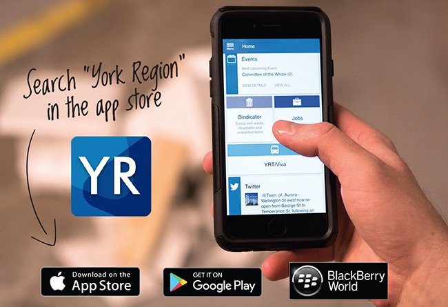 Download the York Region App to Report Potholes